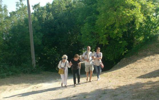 Cammino A Piedi Durante Il Pellegrinaggio