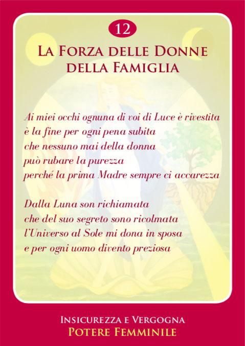 Carta Crearmonica N.12 - Per Il Dolore Delle Donne Della Famiglia