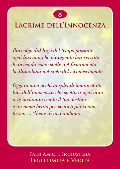 Carta Crearmonica N.8 - Per Il Dolore Degli Orfani