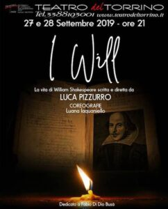 "Roma: ""I will: La vita di William Shakespeare"" @ Teatro del Torrino 